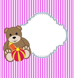 dolly bear vector image vector image