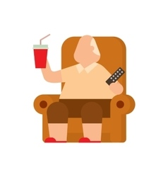 Fat human silhouette flat vector image vector image