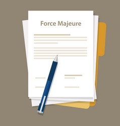 force majeure clause included in contracts to vector image