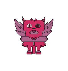 monster character bird vector image vector image