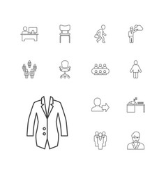 13 manager icons vector image