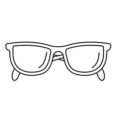 Accounting glasses icon outline style vector