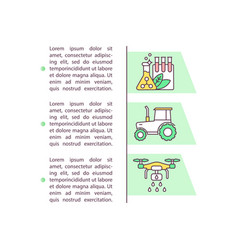 Agrichemicals and farm machinery concept icon vector
