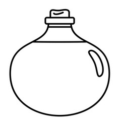 aloe liquid icon outline style vector image