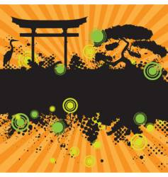 asian style landscape vector image