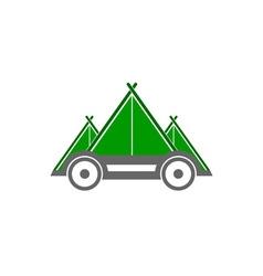 auto-camp vector image