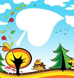 autumn card vector image