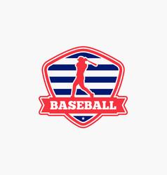 baseball logo badge-10 vector image