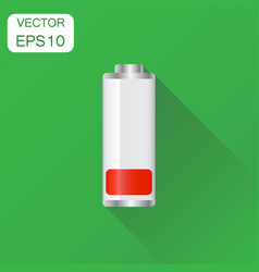 Battery charge level indicator icon business vector