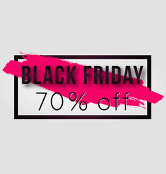 Black friday sale poster with frame and vector