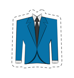 blazer suit jacket man vector image