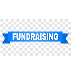 blue stripe with fundraising title vector image