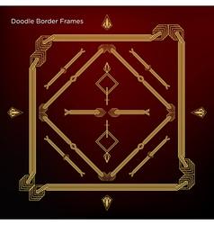Border frames Set and art decor element in vintage vector image