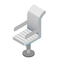 boss armchair icon isometric style vector image