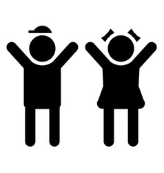 boy and girl kids icon children symbol set vector image
