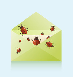 bugs in mail vector image