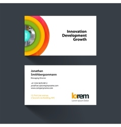 Business card template with half target vector
