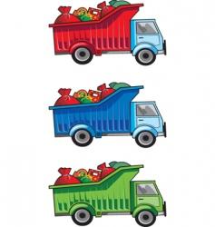 Christmas gift truck vector