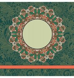 circle vintage ornamental template vector image