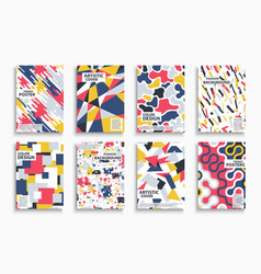 collection abstract colorful contemporary vector image