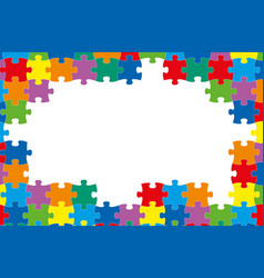 colored background puzzles vector image