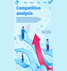 Competitive analysis flat vector