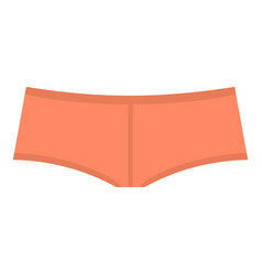 coral boyshorts icon isolated vector image