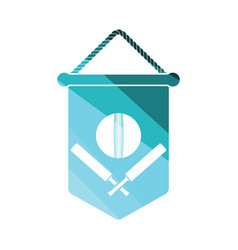 cricket shield emblem icon vector image