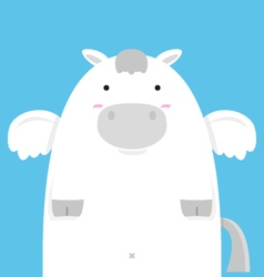 cute fat big pegasus vector image vector image