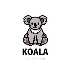 cute koala cartoon logo icon vector image