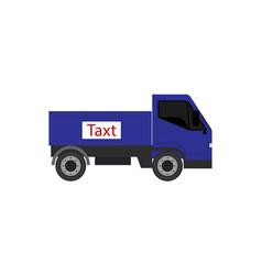 Delivery van truck template vector