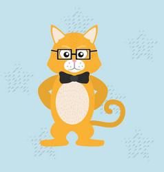 elegant cat cartoon vector image