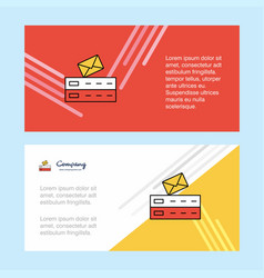 email abstract corporate business banner template vector image