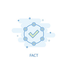 Fact line concept simple line icon colored vector