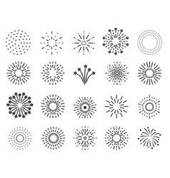 flat fireworks festive sparkles carnival salutes vector image