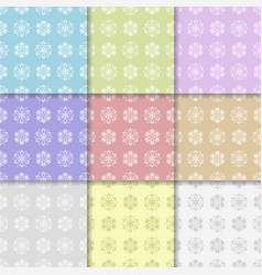 floral seamless pattern abstract background vector image