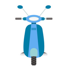 front view blue scooter flat vector image