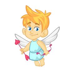 Funny cupid cartoon character vector