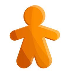 gingerbread icon cartoon style vector image