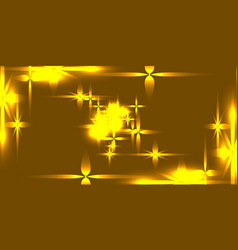 golden background with shining light metal stars vector image
