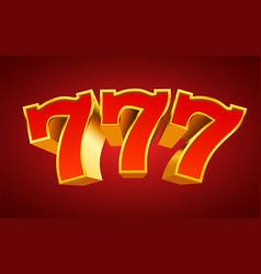 Golden slot machine 777 wins jackpot big win vector