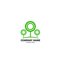 green circle tree logo design template vector image