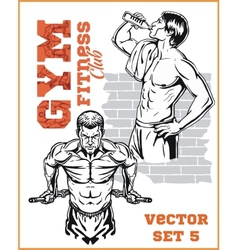 GYM bodybuilding - Fitness club vector