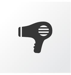 hairdryer icon symbol premium quality isolated vector image