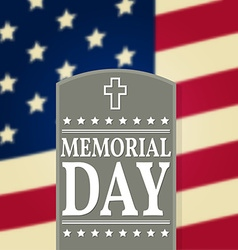 Happy Memorial Day background template Happy vector