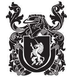 Heraldic silhouette no42 vector