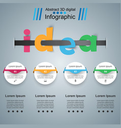 Idea 3d business infographics vector