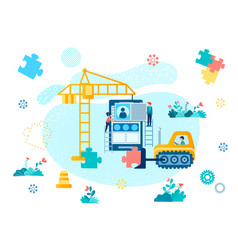 interface construction and mobile application vector image