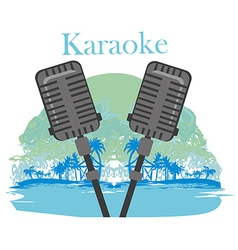 Karaoke night icon vector