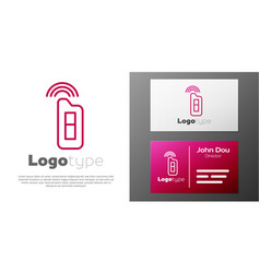 Logotype line car key with remote icon isolated vector